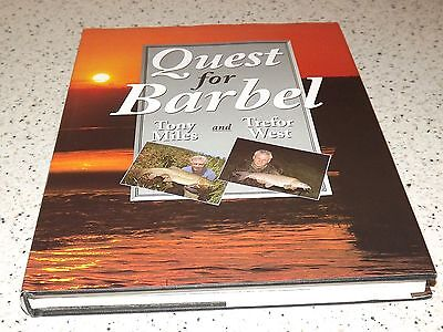 Quest for Barbel - Miles and West. Hardback. Fishing and Carp Books.