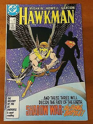 "Hawkman #10 Vol 2 DC Comics 1987 SUPERMAN ""All Wars Must End!"" VF+"