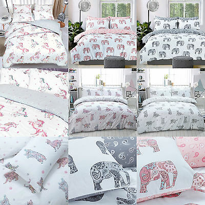 Luxury Animal Print Duvet Sets with Pillow Covers Unicorn,Elephant,Cat All Sizes
