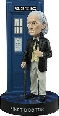 "DOCTOR WHO ~ 1st Doctor with Light-Up Tardis 8"" Bobble Head (Ikon) #NEW"