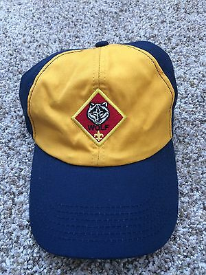 BSA Wolf Cub Scout Hat Boy Scouts Baseball Hat size S/M - Fast Ship!