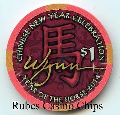 1.00 Chip from the Wynn Casino in Las Vegas Nevada 2014