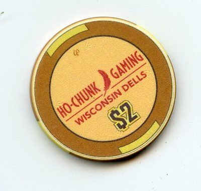 2.00 Chip from the Ho-Chunk Casino in Wisconsin Dells Wisconsin