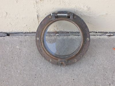 Ships Porthole Circa 1940's  Wwii Authentic Bronze/brass