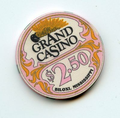 2.50 Chip from the Grand Casino in Biloxi Mississippi Lt Pink