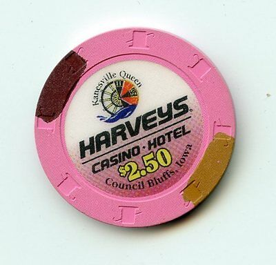 2.50 Chip from the Harvey Casino in Council Bluffs Iowa