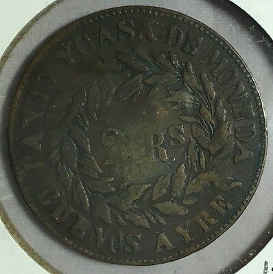 Argentina 1860 2 Reales Coin