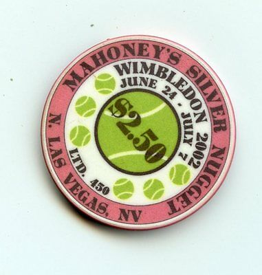 2.50 Chip from the Silver Nugget Casino in Las Vegas Nevada Wimbledon