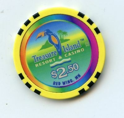2.50 Chip from the Treasure Island Casino in Red Wing Minnesota
