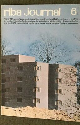 RIBA Journal Jun 73 Sheppard's Approach To Architecture London Blitz Suburban Tr