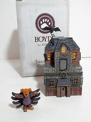 Enesco / Boyds Treasure Box Coll., Boo's Haunted House w/ Spidey McBibble