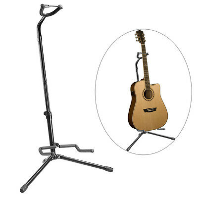 Adjustable Tripod Electric Acoustic Bass Guitar Stand Rubber & Steel Floor Rack