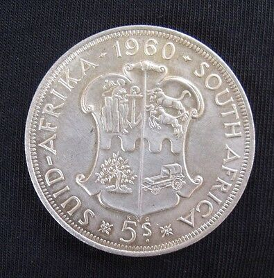 1960 South Africa 5 Shillings aUNC+ Silver Crown.....