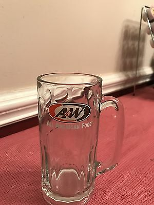 """A&W Root Beer Heavy 7"""" Tall Float Glass Mug"""