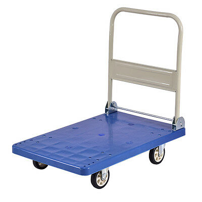 660lbs Platform Cart Folding Dolly Hand Truck Push Foldable Moving Warehouse New