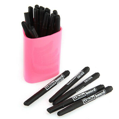 20pcs Whiteboard Black Marker Pens White Board Dry-Erase Markers