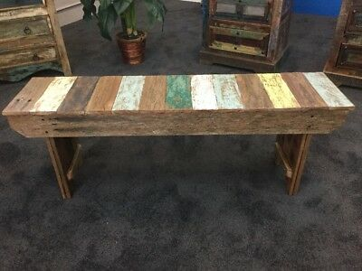 Rustic Australian Recycled Timber Bench Seat