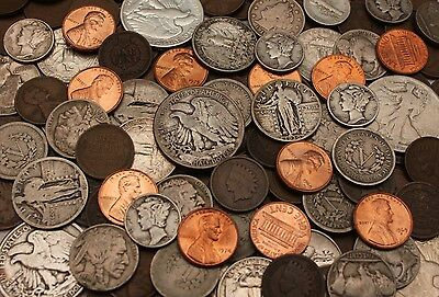 Us Coin Collection Starter Lot: 7 Early Us Coins + 1 Bu Coin