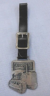 Vintage Caterpillar Tractor Medal Key Watch Fob Advertising Illinois
