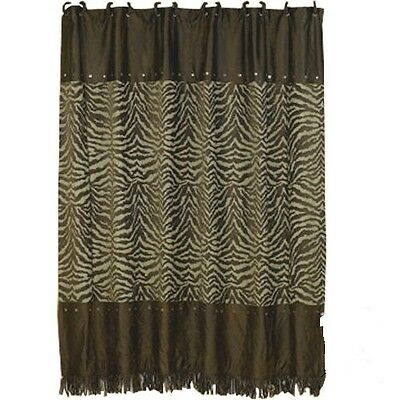 Western Red Zebra Shower Curtain With FREE Hooks and Shipping!