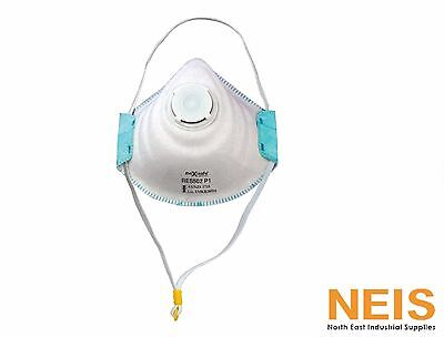 Maxisafe P1 Moulded Respirator Mask W/Exhalation Valve 3 Pack  RES502 Metal Free