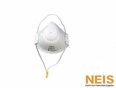 Maxisafe P2 Moulded Respirator Mask 3 Pack RES503 Metal Free Single Use AS/NZS