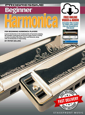 Progressive Harmonica Lessons For Beginners - Teach Yourself How To Play Cd+Dvd