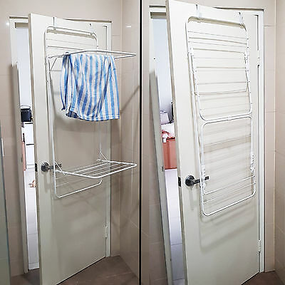 2 Layers Over Door Shower Dryer Clothes Drying Rack Foldable Home Airer