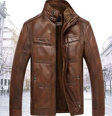 2017 New!New winter men's leather coat collar cashmere casual coats jackets