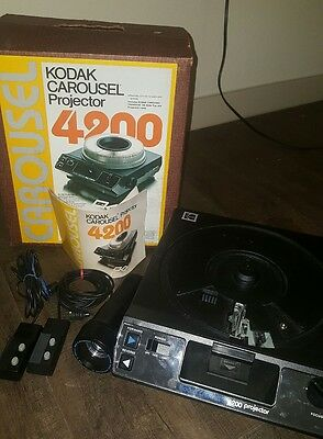 Kodak carousel projector 4200 with lens and 2 controls