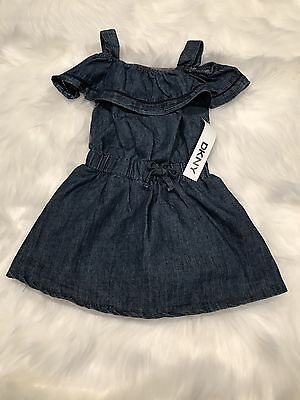 Girls Clothing DKNY Authentic Dark Wash Cut Out Dress Size 2T