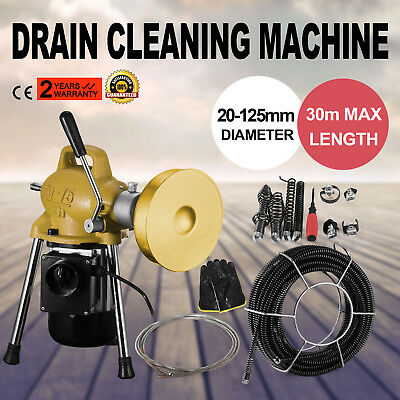 3/4-5 Dia Sectional Pipe Drain Cleaner Machine 3/10 or 3/5 Ø Spirals Easy
