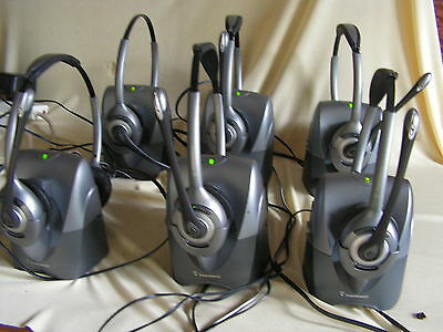 Plantronics Cs361N/a Wireless Headset With The Charging Base, All Paired