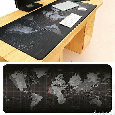 XL Size Anti-Slip World Map Speed Game Mouse Pad Gaming Mat for Laptop PC RT1