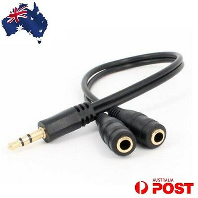 3.5mm Headphone Aux Stereo Y Splitter Double Adapter Jack for iPod iPhone Audio