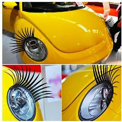 3D Headlight Eyelashes Double Black Car Accessories for Various Models Fashion