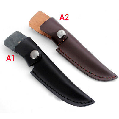 40 * 185mm Straight Leather Sheath Scabbard Case Bag for Fixed Blade Accessories