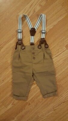 Next Baby Boy trousers with braces 0-3 months
