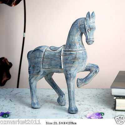 * New Simple Vintage Style Creative Resin Horse Model Home Decoration Gift H-1
