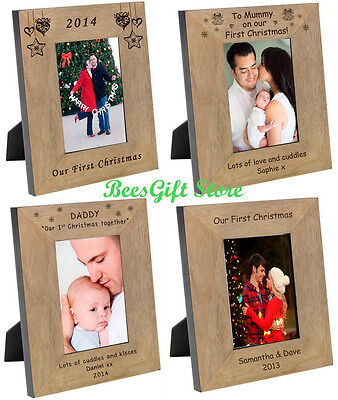 PERSONALISED OUR FIRST 1st CHRISTMAS Picture PHOTO FRAME Gifts For BABY Baby's