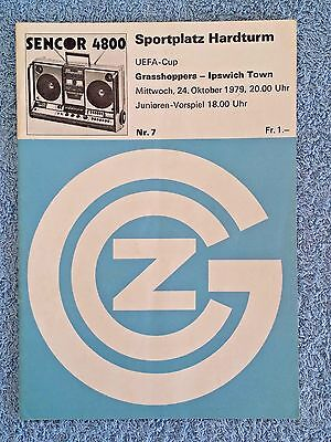 1981 - GRASSHOPPERS v IPSWICH TOWN PROGRAMME - UEFA CUP 2ND ROUND 1ST LEG