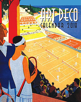 2018 Calendar Art Deco Large