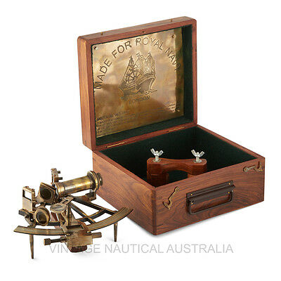 Sextant Marine Brass Antique Finish Gift Decor -VINTAGE NAUTICAL AUSTRALIA