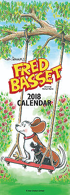 2018 Calendar Fred Basset Illustrated Organiser Tall