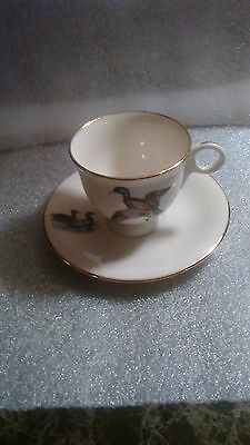 Delano Studios Tea Cup And Saucer Duck Hunting