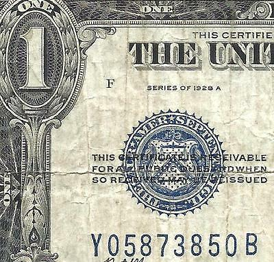 1928A $1 *FUNNY BACK*  (( Y-B Block EXPERIMENTAL )) VF! Old US Paper Money!