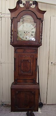 Early To Middle 19Th Century North Country (Sheffield) Long Case Clock