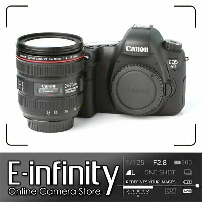 Canon EOS 6D Body (WG) Full Frame 20.2MP DSLR + 24-70mm f/4L IS USM