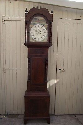 19Th Century  8 Day Long Case Clock In Mahogany