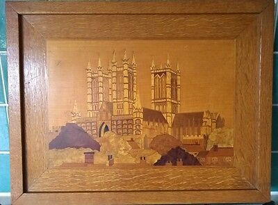 RARE UNIQUE Bespoke Handcrafted Wooden Inlay Picture Lincoln Cathedral B Webster
